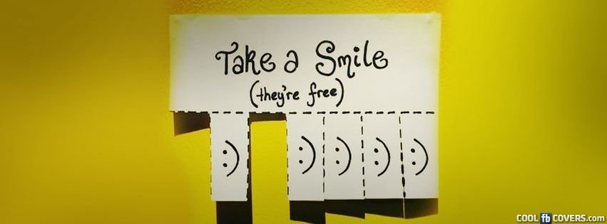 Facebook Book Cover Pictures ~ Take a smile facebook cover covers cool fb