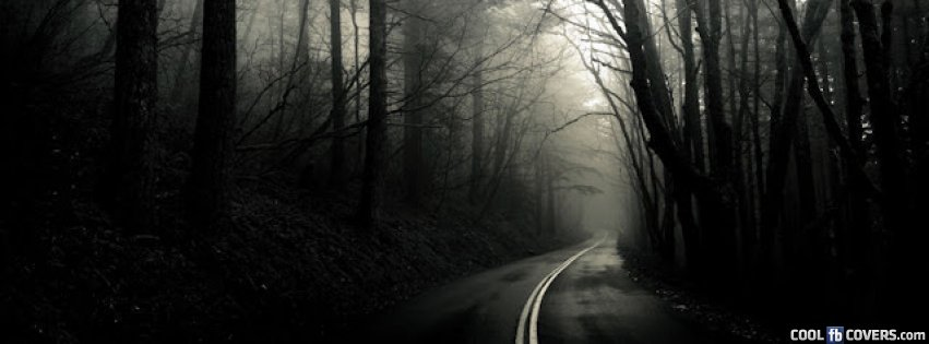 halloween black forest lonely road facebook covers cool fb covers