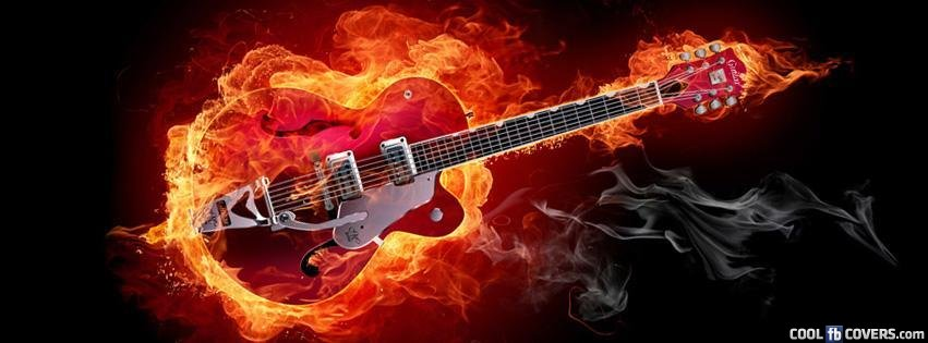 Blazing Guitar Facebook Covers