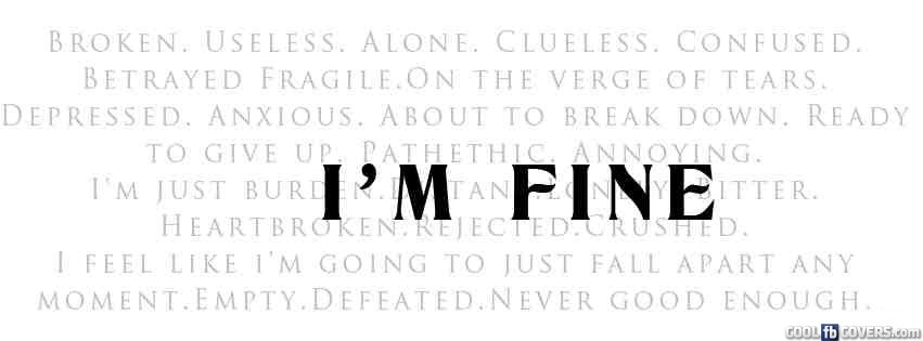 Im Fine Facebook Cover...
