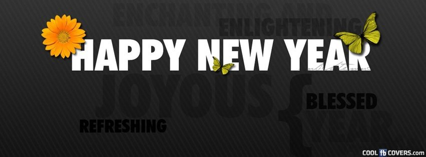 refreshing new year facebook cover