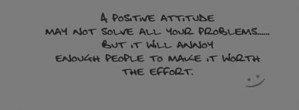A Positive Attitude Facebook Covers