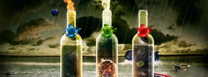 Abstract Bottles Fb Cover Facebook Covers