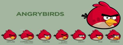 Angry Red Bird Facebook Covers