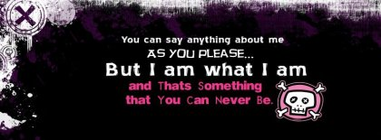 Attitude I An What I Am Fb Facebook Covers