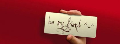 Be My Friend Facebook Covers