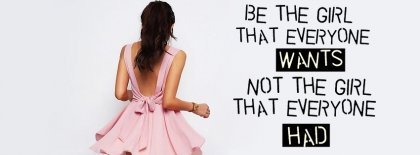 Be The Girl Facebook Covers