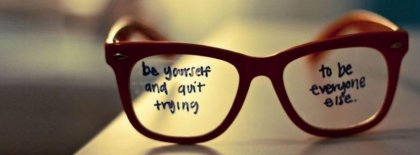 Be Yourself Facebook Covers