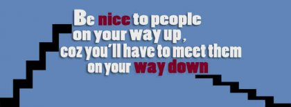 Be Nice To People Facebook Covers