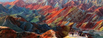 Chinese Colored Mountains Facebook Covers