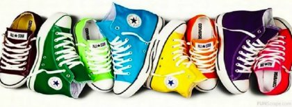 Colorful Converse Cover Facebook Covers