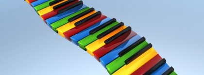 Colorful Piano Keys Facebook Covers