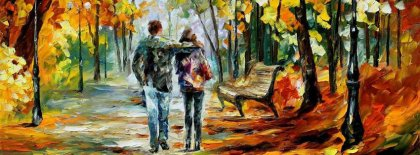 Couple In Brush Painting Facebook Covers