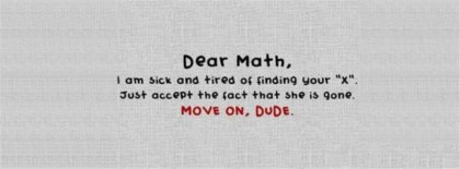 Dear Math Fb Cover Facebook Covers