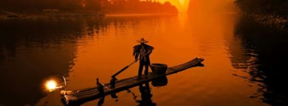 Fisherman Behind The Sunset Fb Cover Facebook Covers