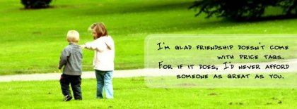 Friendship Does Not Come With Price Tags Facebook Covers