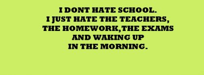 Funny School Life Facebook Covers