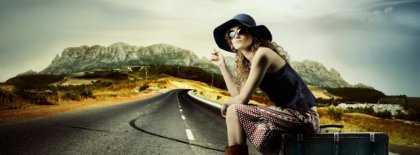 Girl On Road Facebook Cover Facebook Covers