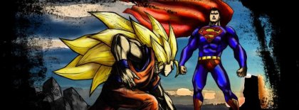 Goku Vs Superman Facebook Covers