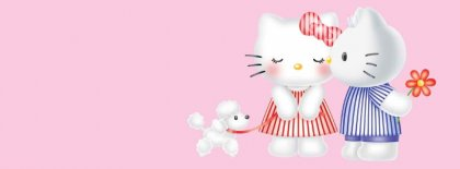 Hello Kitty Couple Facebook Covers