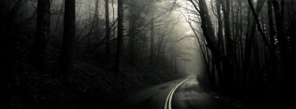 Halloween Black Forest Lonely Road Facebook Covers