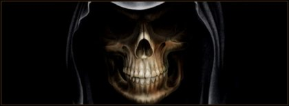 Halloween Smiling Skull Facebook Covers