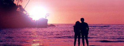Couple In The Sunset Facebook Covers