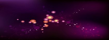 Purple Color & Flower Abstract Facebook Covers