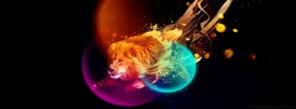Abstract Lion Cover Facebook Covers