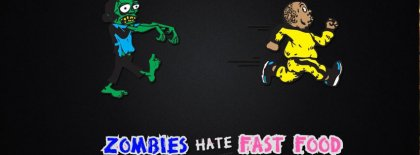 Zombies Hate Fast Food Facebook Covers