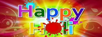 Happy Holi Facebook Covers