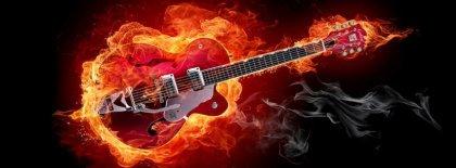 Blazing Guitar Facebook Covers