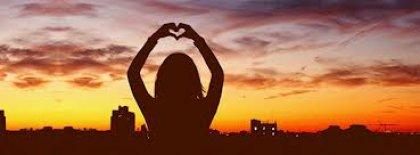 Sunset Heart Facebook Covers