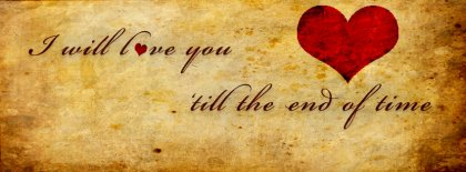 Love Till The End Facebook Covers