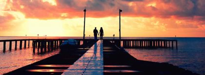 Lovers Under The Sunset Facebook Covers