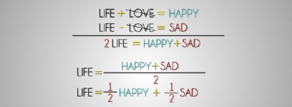 Math Equation Of Life Facebook Covers