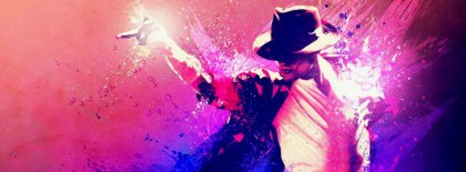 Michael Jackson Retro Abstract Cover Facebook Covers
