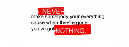 Never And Nothing Facebook Covers