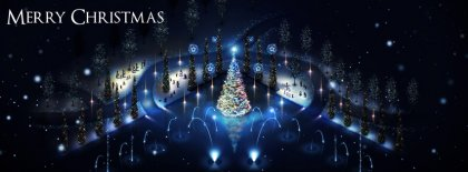 Night Christmas Facebook Covers
