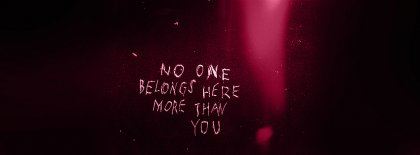 No One Belongs Here Facebook Covers