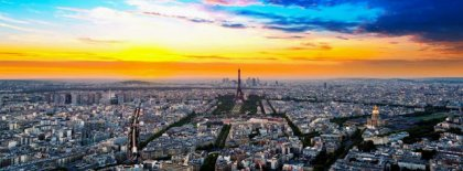 Paris Skyline Fb Cover Facebook Covers