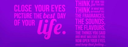 Picture The Best Day Of You Facebook Covers