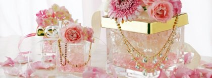 Pink Crystal Wedding Facebook Covers