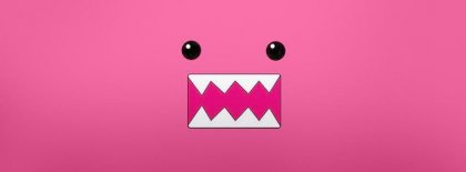 Pink Domo Face Facebook Covers