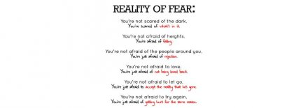 Reality Of Fear Facebook Covers