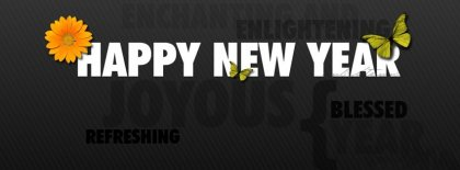 Refreshing New Year Facebook Covers