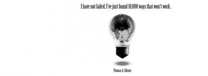 Thomas Edison Quote Facebook Covers