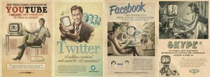 Vintage Youtube Twitter Fb Skype Facebook Covers