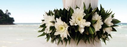Wedding Bouquet On A Beach Facebook Covers