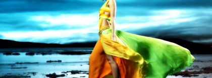 Yellowish Green Skirt Facebook Covers